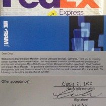 Cindy Lee: Ingram Micro Mobility Offer Letter